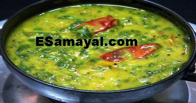 கீரை சாம்பார் செய்முறை / Spinach Sambar Recipe !