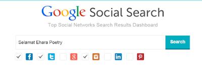 situs pencarian Google Social Searcher