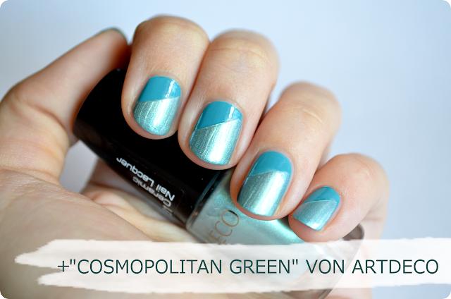 Vernis In Love Lancôme AQUAMARINE & Nagellack Artdeco COSMOPOILITAN GREEN