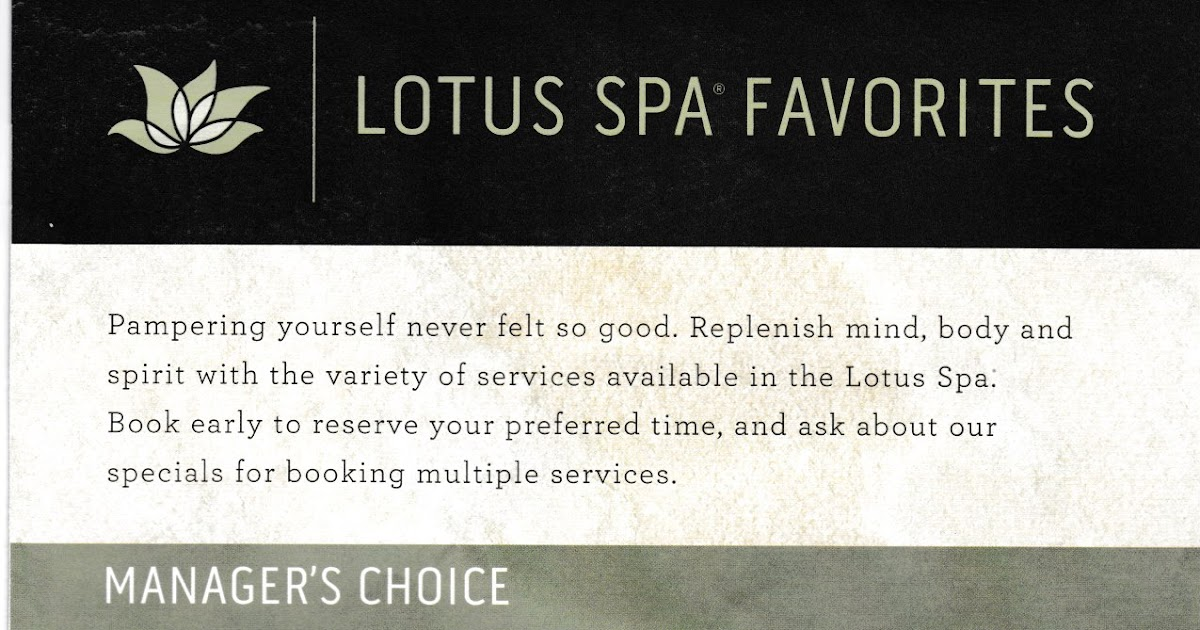 Vickie And Bernie Travel The Lotus Spa Services