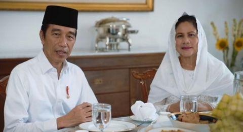 Joko Widodo dan Ibu Iriana Jokowi Sampaikan Selamat Idulfitri 1441 H