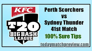 Today BBL 41st Match Prediction Thunder vs Perth Dream 11 Team