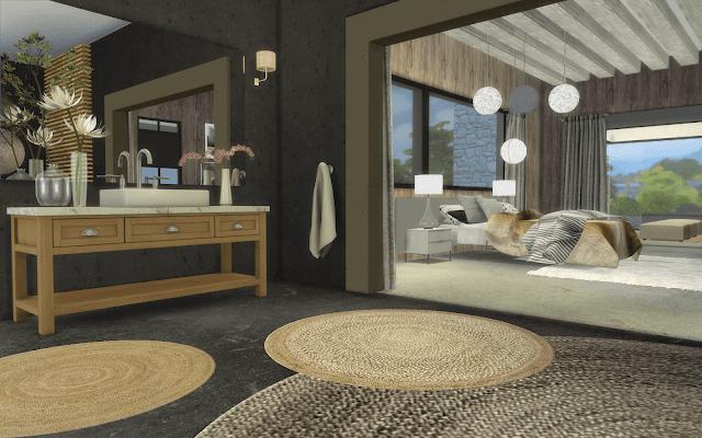 chambre villa sims 4
