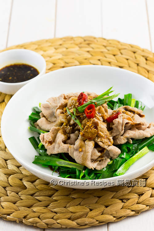 Boiled Pork Slices with Garlic Sauce04