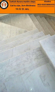 Al Cobra Turkish karara marble steps