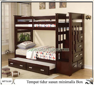 Tempat tidur susun minimalis box