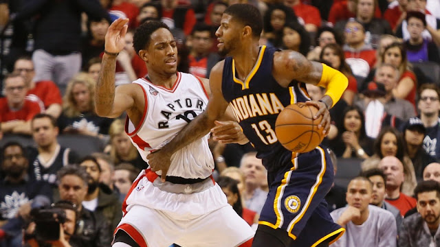 DeMar DeRozan, Toronto Raptors & Paul George, Indiana Pacers