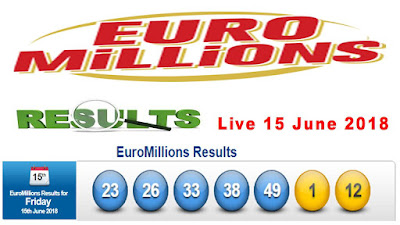Euro millions Live Result Friday 15 June 2018