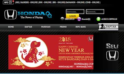 HONDAQQ.COM AGEN DOMINO 99 BANDARQ DAN POKER ONLINE TERPERCAYA