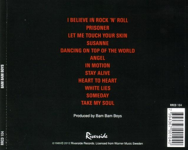 BAM BAM BOYS (Matti Alfonzetti) - Bam Bam Boys [remastered reissue] back