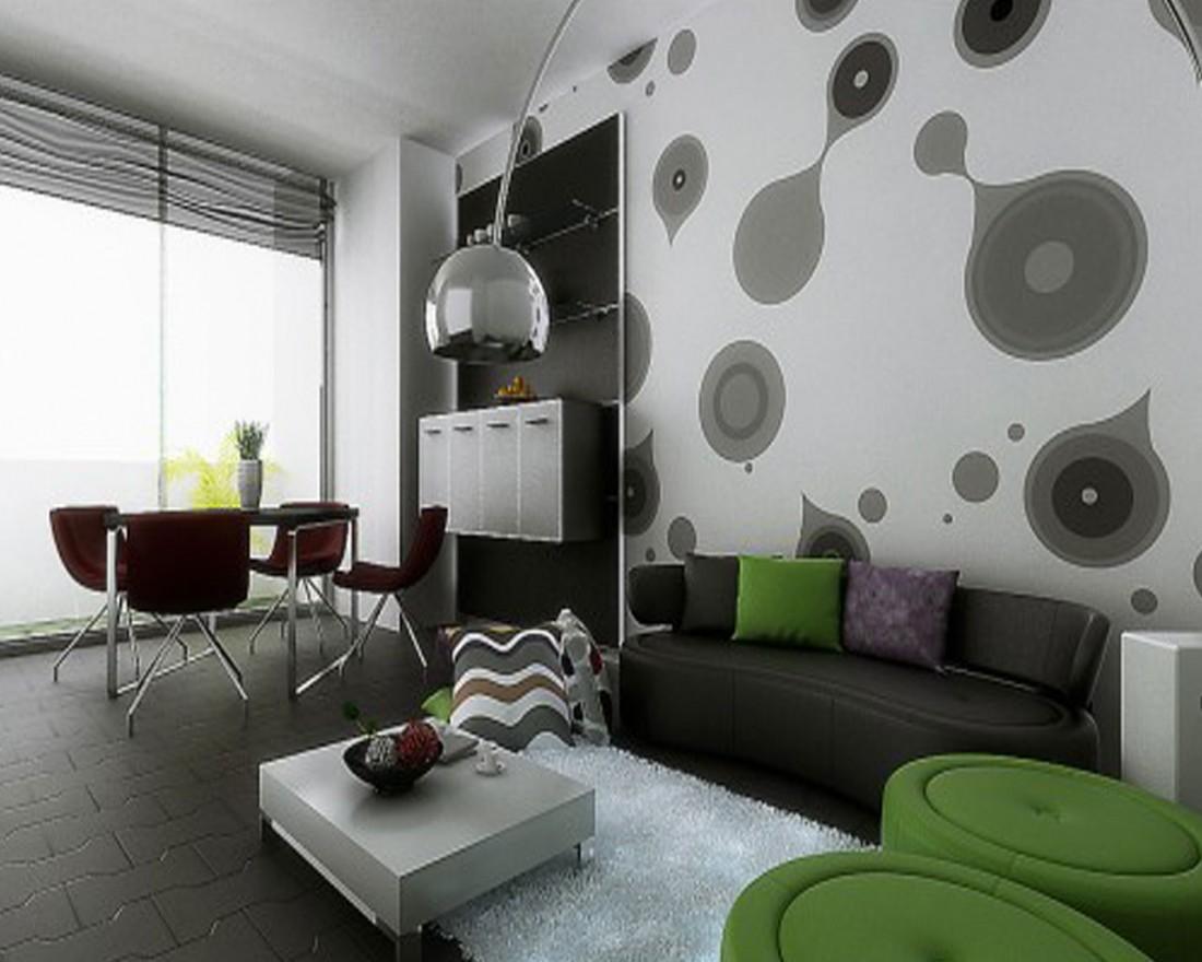 Model Hiasan Dinding Ruang Tamu Dengan Wallpaper