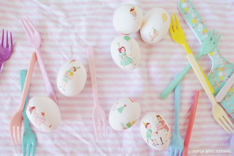 Decoupaged Easter Eggs