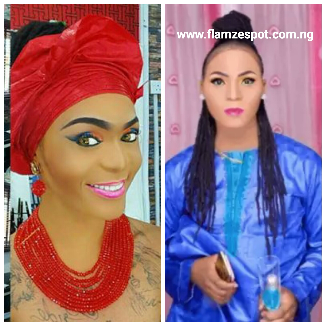 GOSSIP: Another Nigerian crossdresser  'Ebimobowei Joshua Agai' who is serving his NYSC presently in  Delta state