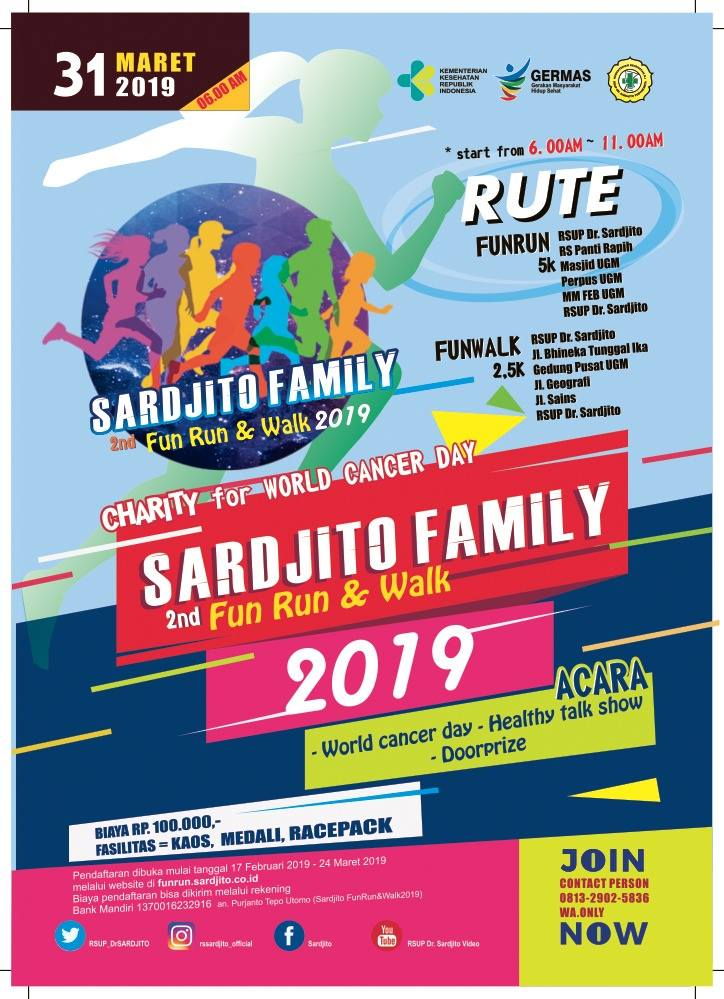 2nd Sardjito Fun Run & Walk • 2019