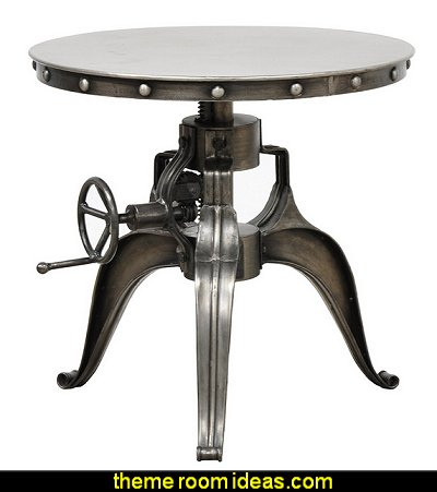 Industrial Modern Iron 22 inch Crank Adjustable Accent or Bistro Table - Includes Modhaus Living Pen