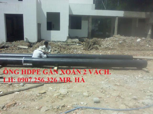 ống nhựa hdpe gân xoắn thoát nước thải cho công trình khu dân cư