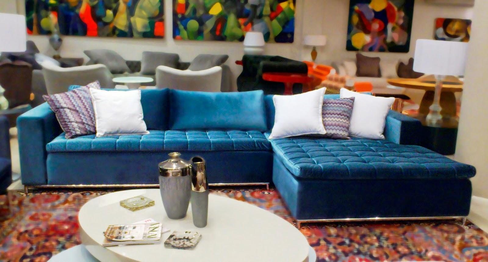 o blog de todas as coisas Sof azul
