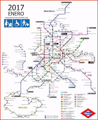 Mapa metro Madrid nuevo