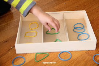 Color Shape Sorting, Counting, Patterns with Wikki Stix