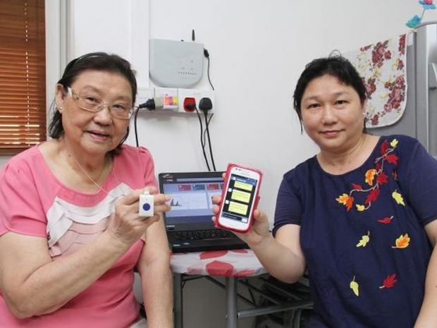 singapure elderly care system-Singapur sistema de vigilancia de ancianos