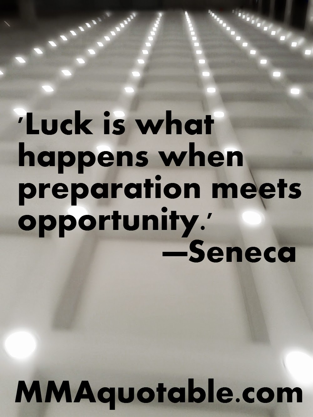 Quote Success Is When Preparation Meets Opportunity: Motivational Quotes With Pictures (many MMA & UFC): 'Luck