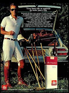 propaganda cigarros du Maurier - 1976; propaganda anos 70; história decada de 70; reclame anos 70; propaganda cigarros anos 70; Brazil in the 70s; Oswaldo Hernandez;
