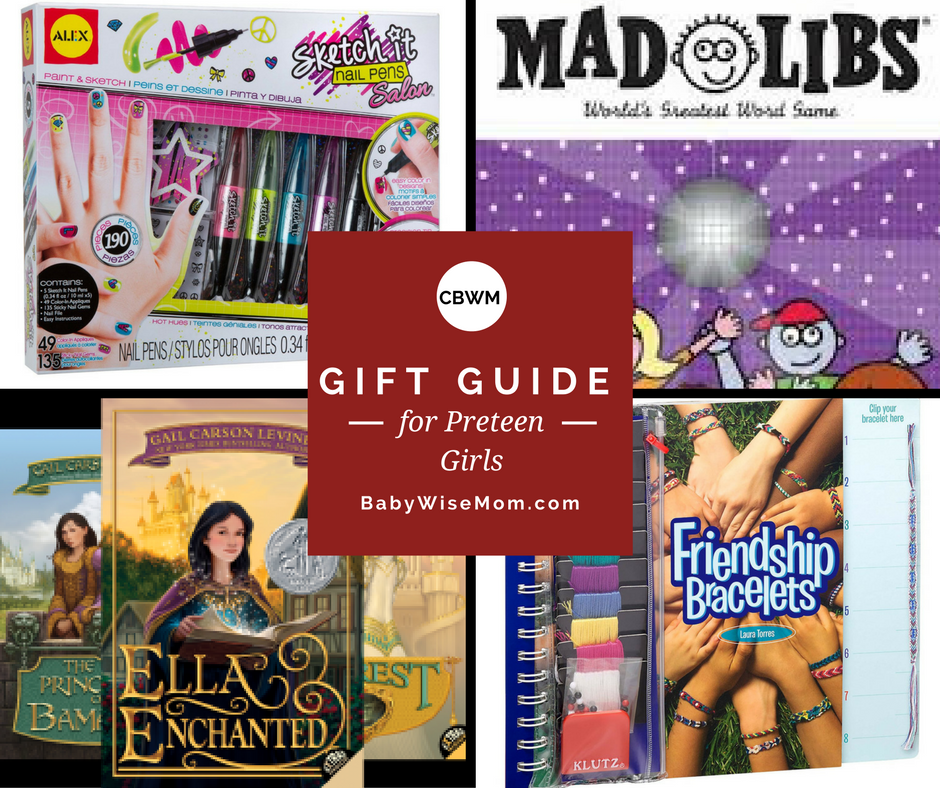 Preteen gift ideas for girls. Over fourteen different gift ideas for the tween-age girl in your life. Find a great gift the preteen will love!