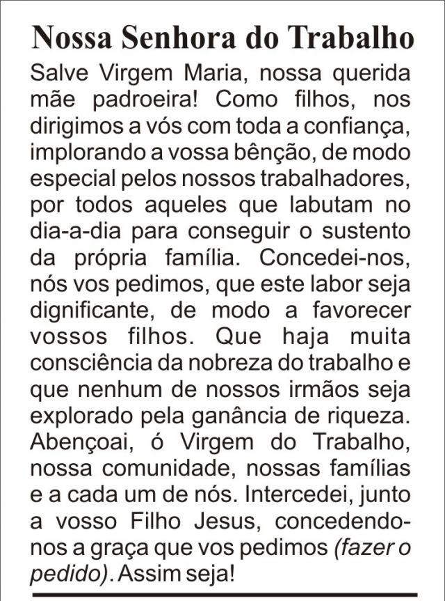 Top São Judas Tadeu e Santa Rita Cássia: Nossa Senhora do Trabalho. XG38