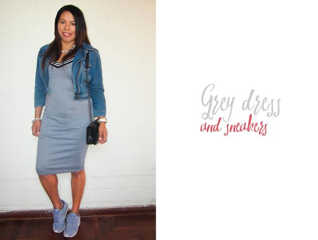 Chaqueta para combinar vestido gris