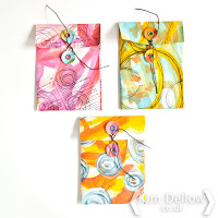 Kim Dellow shows how to make little mixed media envelops