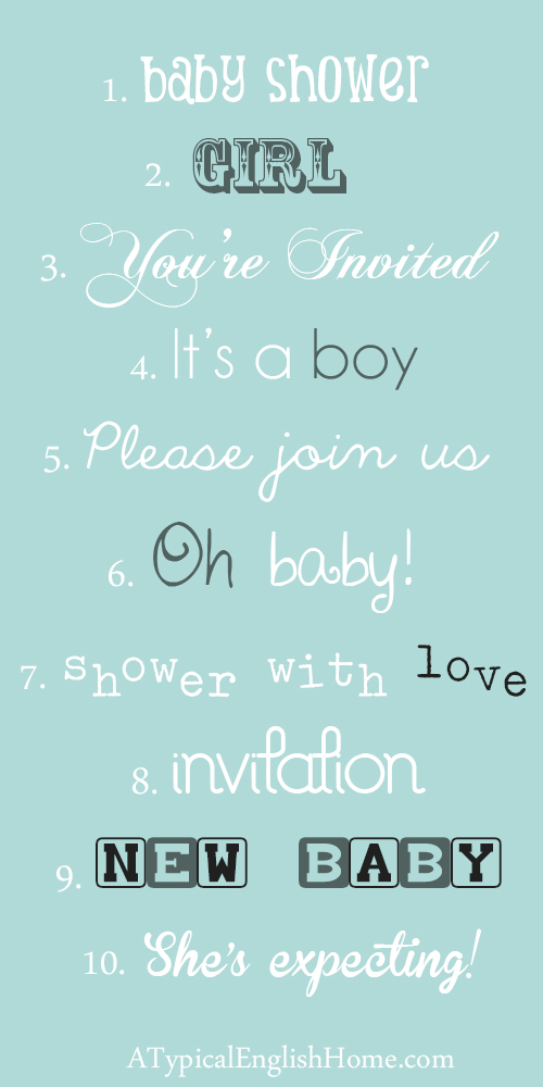 Free Fonts for Baby Showers and Birth Announcements