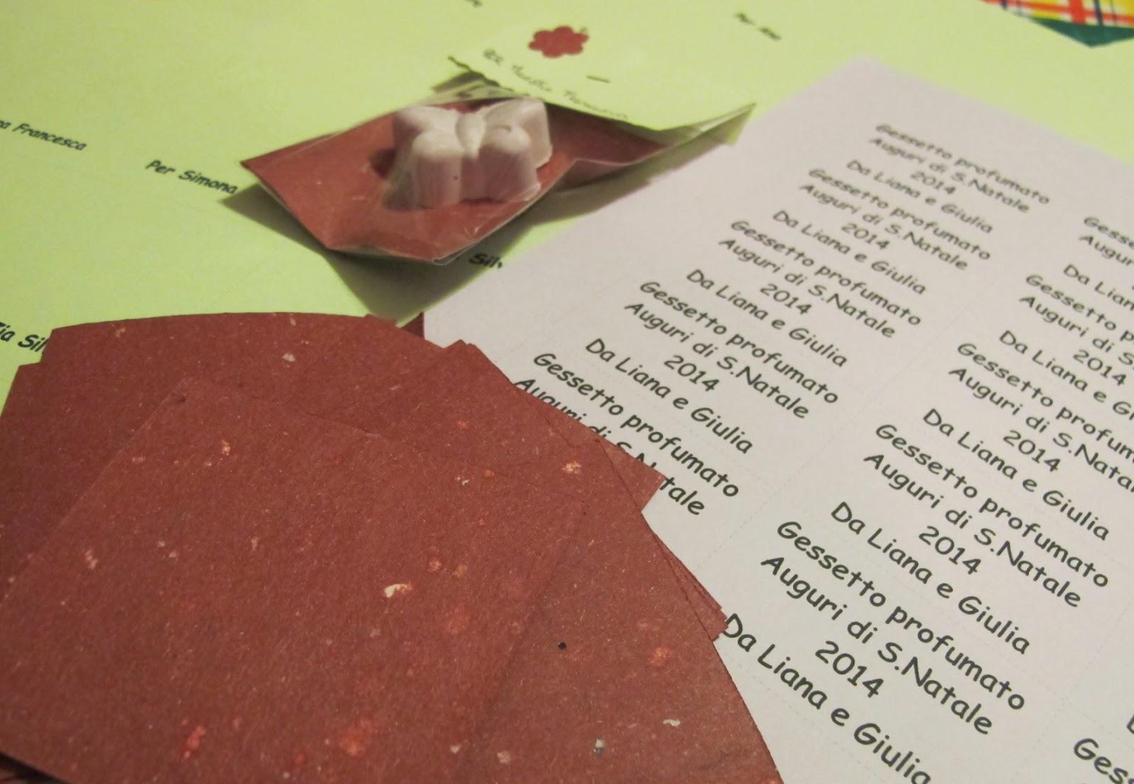 Pensierini di Natale: Gessetti profumati alla LAVANDA - Seconda Parte