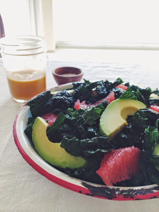 Grapefruit & Avocado Kale Salad (AIP)