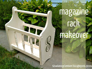 diy magazine rack makeover
