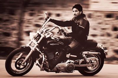 Gautham Karthik in his Bike