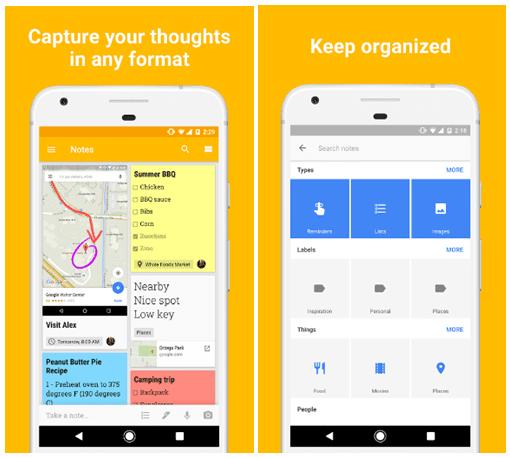 Organisir ide di Google Keep