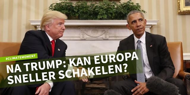 Ook op de klimaattop in Marrakesh was de verkiezing van Trump een schok. Maar langzaam begint bij de onderhandelaars het moment van ongeloof weg te ebben: Een aantal begint zich te realiseren dat deze klimaattop het laatste moment is om met het onderhandelingsteam van Obama zaken te doen. Het proces dat normaal zo stroperig gaat, zou daardoor juist kunnen versnellen. Als de politieke wil er tenminste is. Maar er zullen ook delegaties zijn die op de rem trappen. Waarom moeten landen afspraken maken als de grootste economie niets gaat doen?