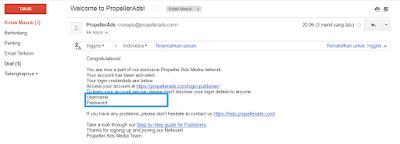 Mendaftar Publisher di PropellerAds