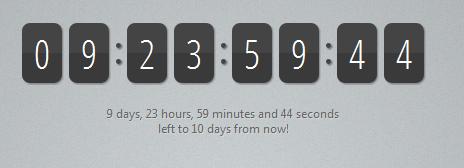 11 Best jQuery Countdown Timer Script Plugin Examples/Tutorials