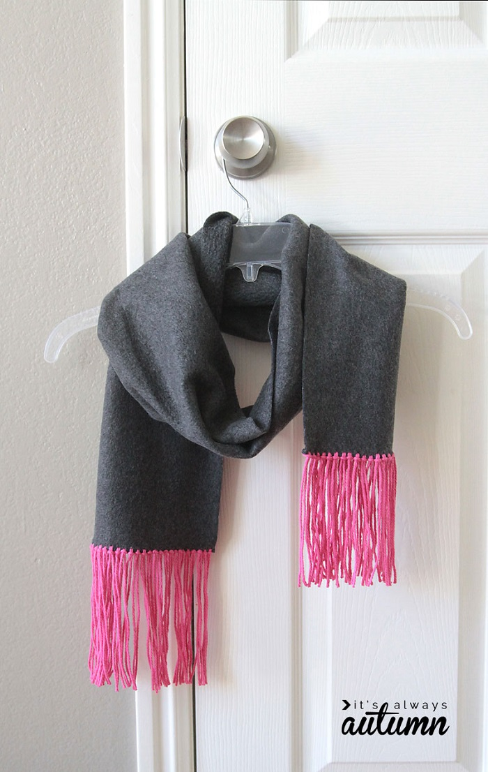 Fleece & Fringe Scarf