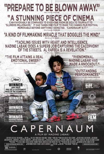 "233. Lebanese director Nadine Labaki's third feature film ""Capernaum"" (a.k.a. Caphernaum; and Chaos)(2018) (Lebanon): A film that puts Lebanon on the world cinema map by presenting truth, humanism, and issues often swept under the carpet, in many parts of the globe"