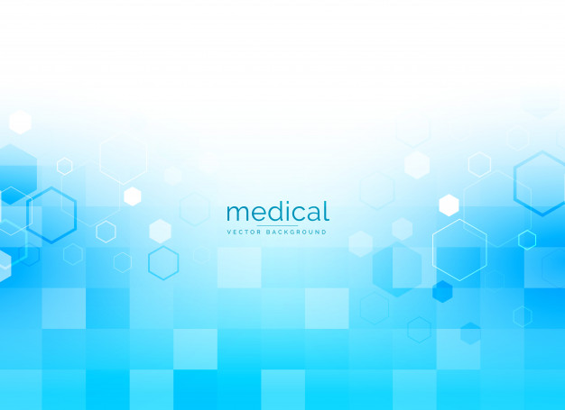 Medical background in bright blue color Free Vector