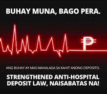 Anti-Hospital Deposit Law/PNA