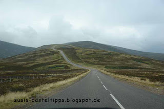 einsame Straße in den Highlands von Schottland: Foto von Susanne McDonald, unabhängige Stampin' Up! Demonstratorin