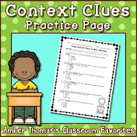 http://www.teacherspayteachers.com/Product/Context-Clues-Practice-Page-1845482