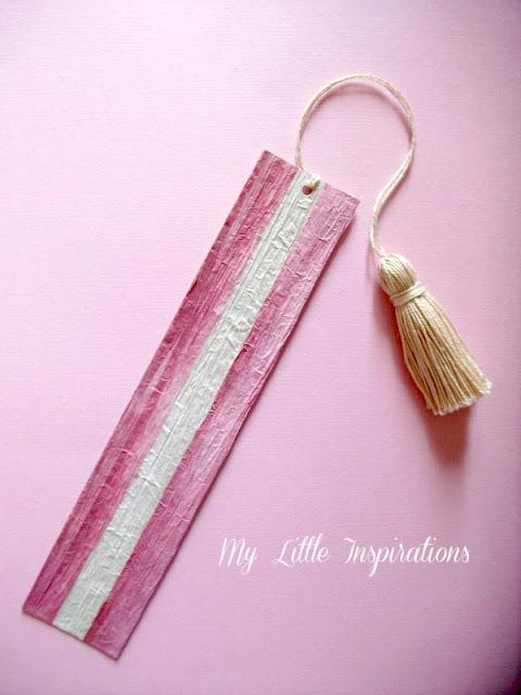 3 segnalibri DIY con nappine e materiali di riciclo - Pirkka® bianca e rosa - MLI