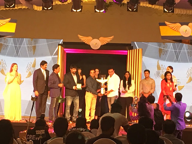 Minister KTR Presenting award at KPCL GoldenEagles Awards