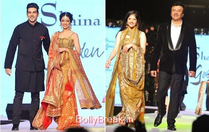 Zayed Khan, Divya Khosla Kumar, Anu Malik, Ada Malik, Sonakshi, Aamir, Diandra's CPAA Fashion Show Photo gallery 2015