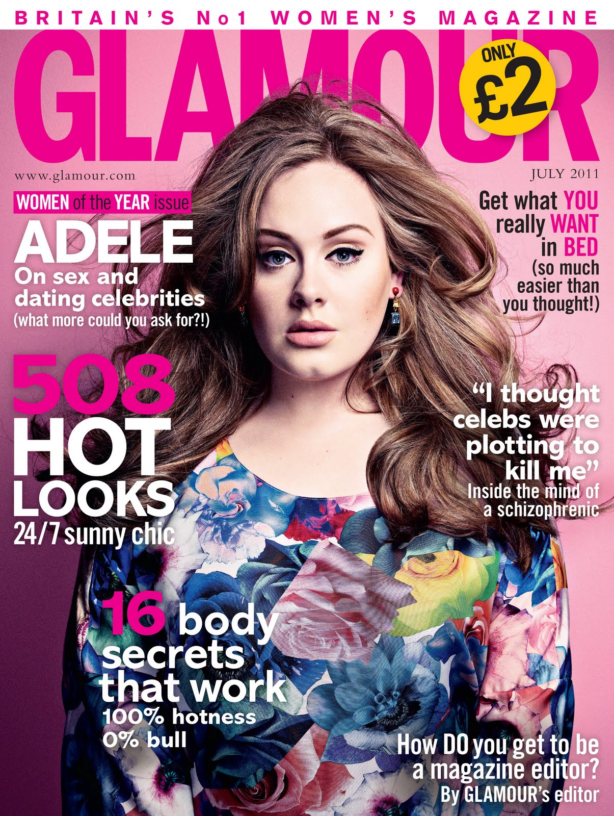 Girl With a Satchel  Glossy Covers  Adele for Glamour 473a85054d
