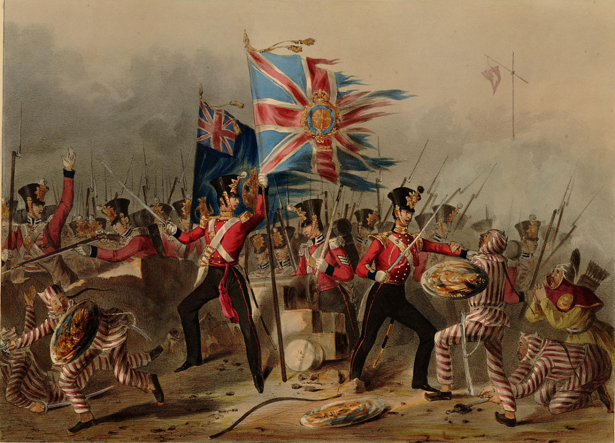 Opium War in Asia - Britain invaded China for arresting the druglords from selling Opium drugs, products of Britain